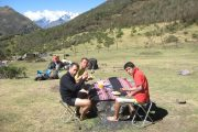 Lunch in Choquequirao trek