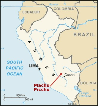 Machu Picchu Location