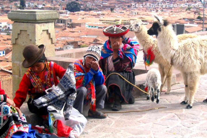 Native people Cusco city