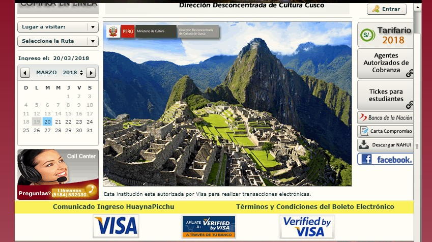 How to buy Machu Picchu tickets online